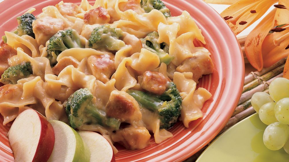 Creamy Swiss Chicken And Noodles