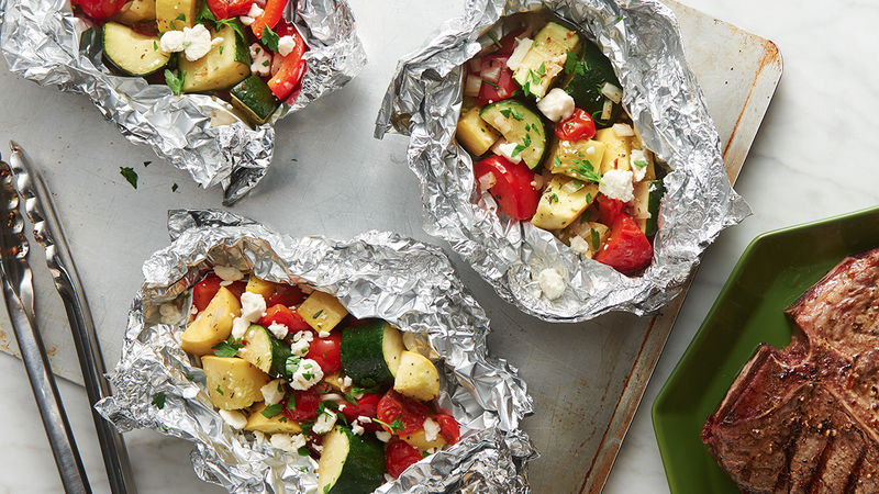 Grilled Summer Veggie Foil Packs