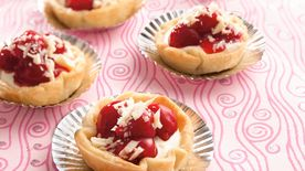White Chocolate Cherry Mini Pies