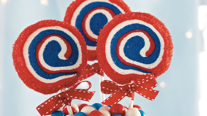 Patriotic Cookie Pops