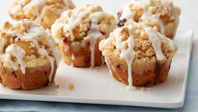 Cherry-Cream Cheese Crumb Cake Bombs
