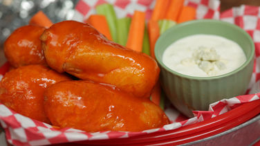 Buffalo Chicken Mozzarella Sticks