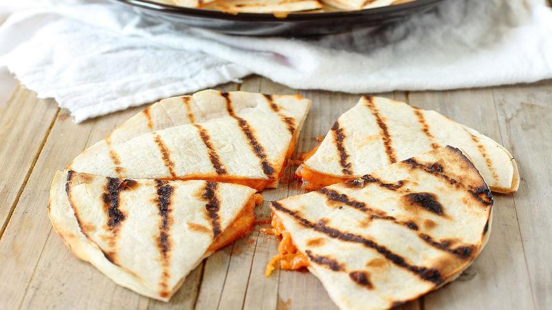 Quick Grilled Pizza Quesadillas