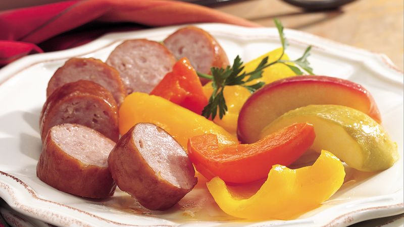 Roasted Sausage, Apples and Peppers
