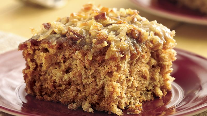 Applesauce Oatmeal Cake With Broiled Coconut Topping