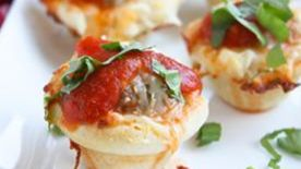 Meatball Pizza Cups