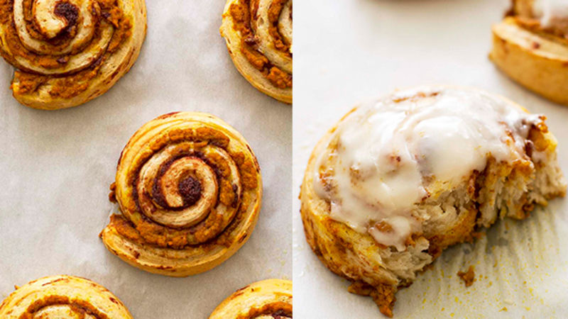 Pumpkin Brown Butter Cinnamon Rolls