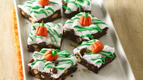 Pumpkin Patch Rocky Road Brownies Recipe - BettyCrocker.com