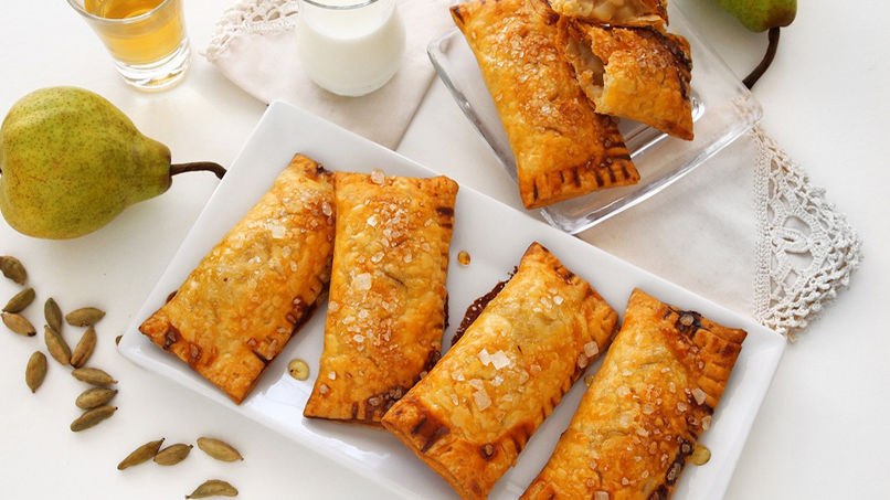 Pear Turnovers with Cardamom and Vanilla