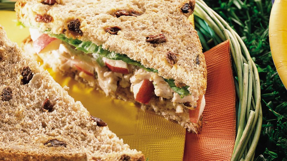 Waldorf Chicken Salad On Raisin Bread