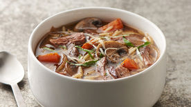 Slow-Cooker Beef and Mushroom Soup