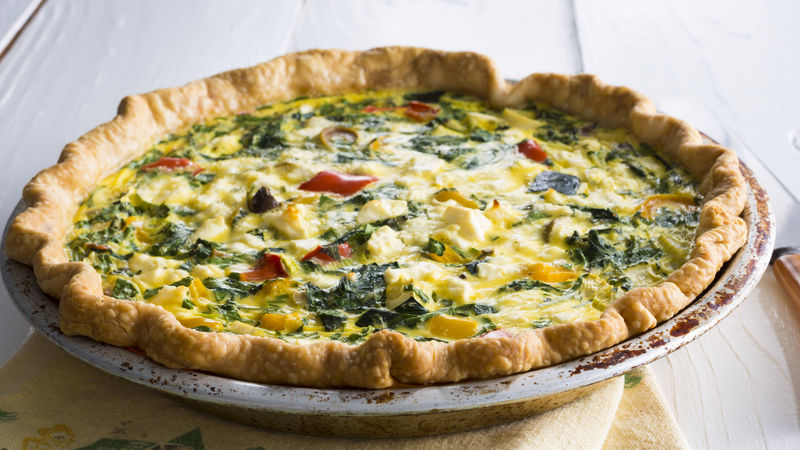 Greek Vegetable Quiche Recipe Bettycrocker Com