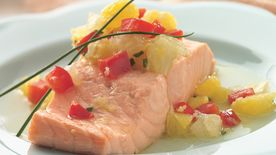 Salmon with Ginger-Citrus Salsa