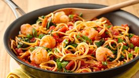 Spicy Chile-Garlic Shrimp Pasta