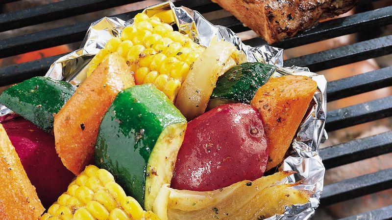 Grilled Vegetable Foil Packs