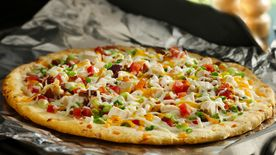 Grilled Chicken and Bacon Ranch Pizza