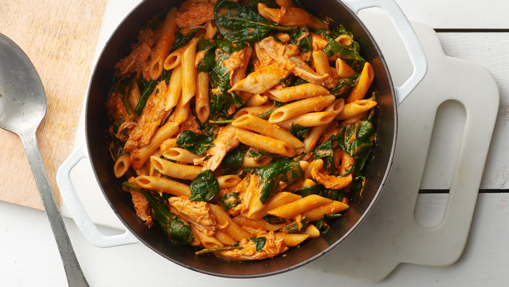 ... Creamy Chicken and Roasted Red Pepper Penne recipe from Pillsbury.com