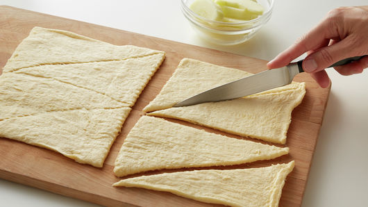 Separate dough into 8 triangles