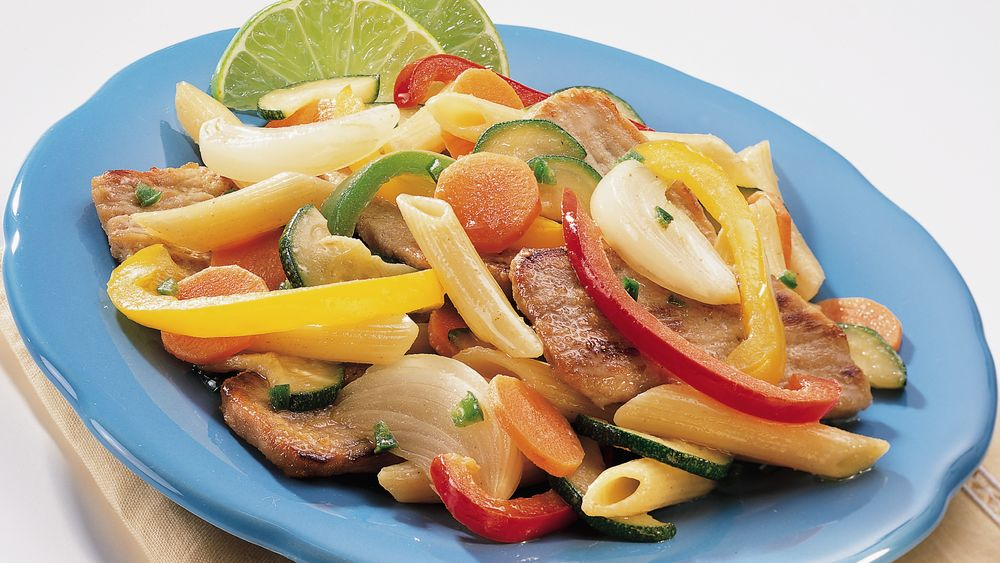 Fajita Pork and Pasta