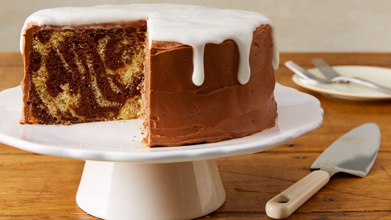 Slow-Cooker Zebra Cake