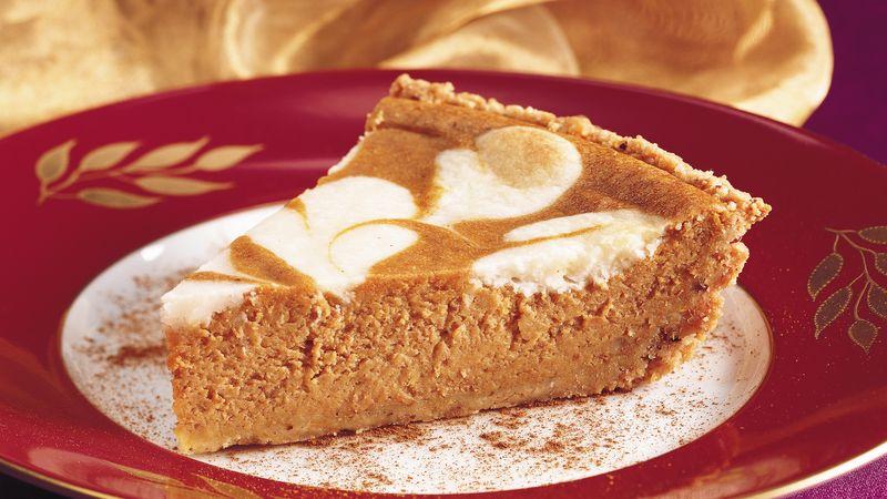 Pumpkin-Cream Cheese Pie with Cookie Crust