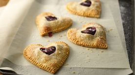 Cherry-Filled Heart-Shaped Pies