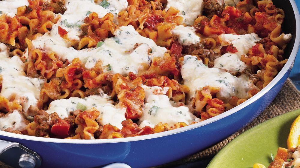 Creamy Skillet Lasagna recipe from Pillsbury.com