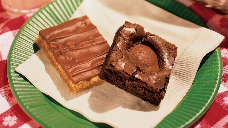 Peanut Butter Surprise Brownies