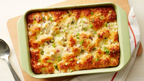 Chicken Cordon Bleu Bubble-Up Bake