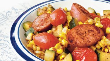 Sausage and Vegetable Skillet