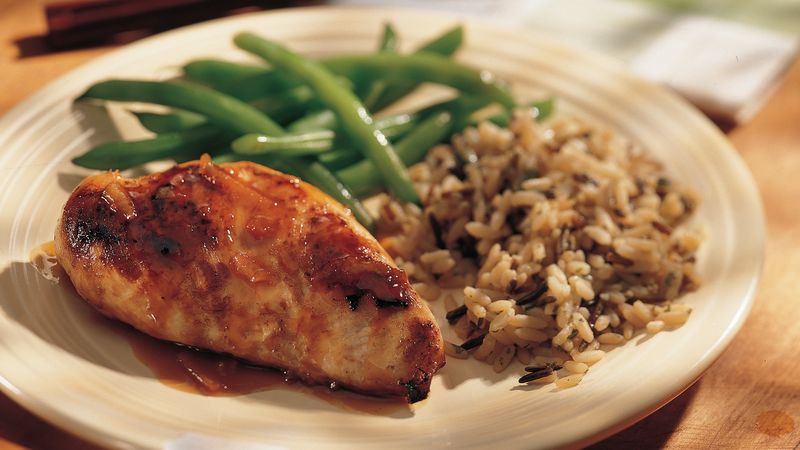 Chicken with Gingered Brown Rice