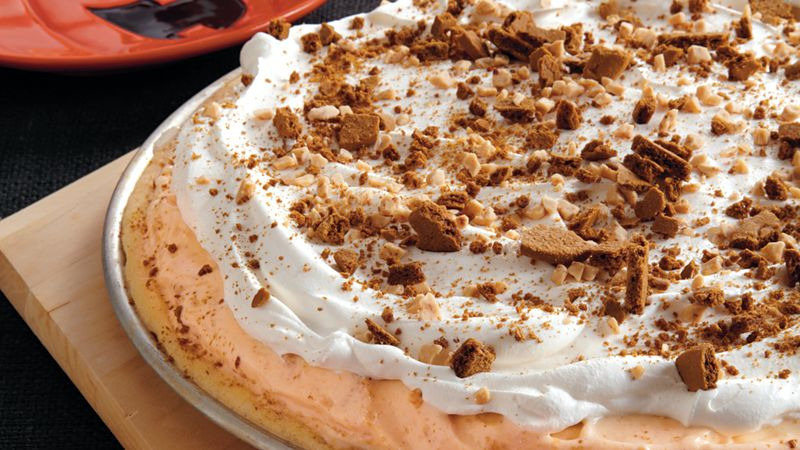 Pumpkin Ice Cream Cookie Pizza