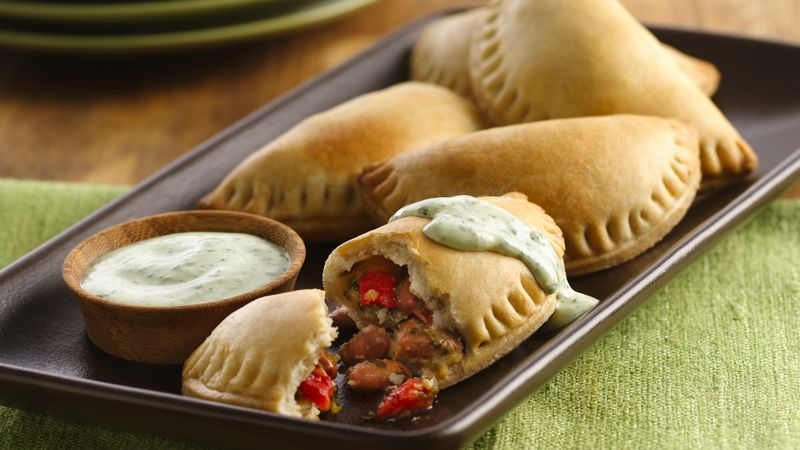 Pinto Beans and Roasted Red Pepper Empanadas