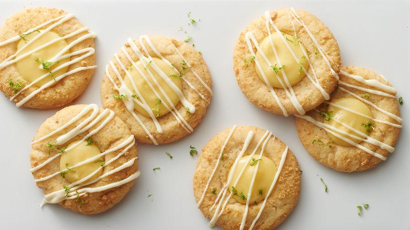 Key Lime Pie Thumbprints