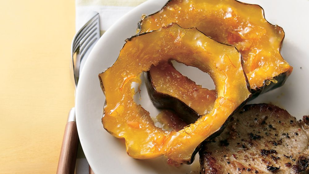 Orange Caramelized Squash Rings