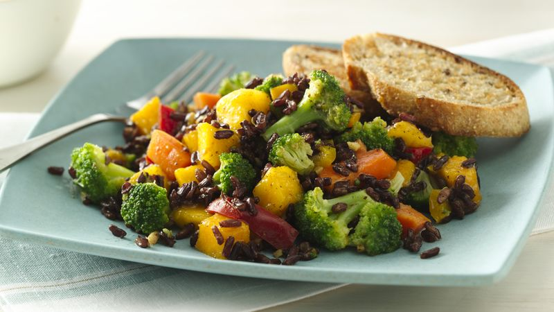 Curried Black Rice Salad