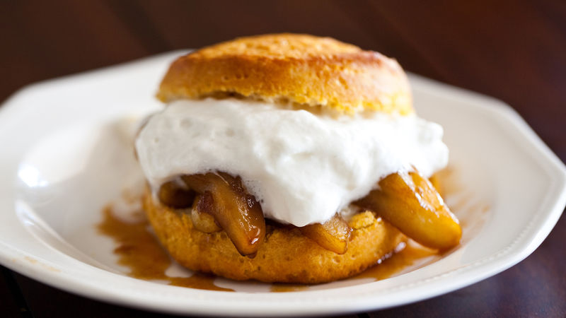 Boozy Apple Shortcakes