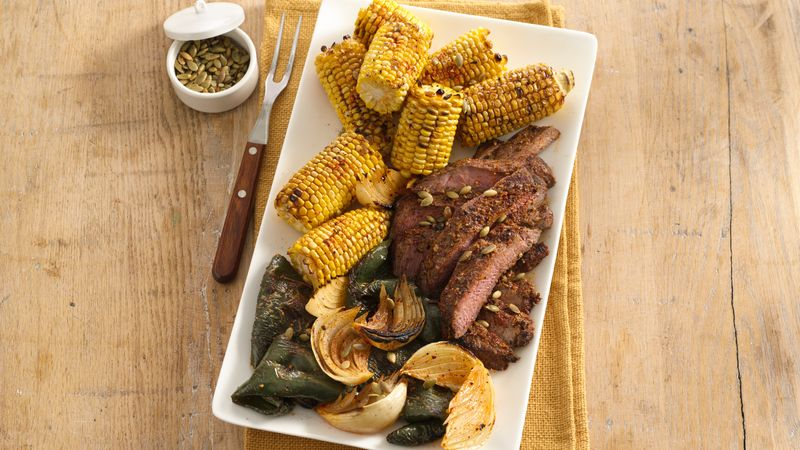 Southwestern Steak with Corn and Chiles
