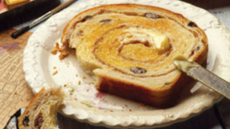 Cinnamon Swirl Raisin Bread Recipe Bettycrocker Com