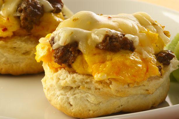 Southwestern Baked Biscuit Breakfast Sandwich
