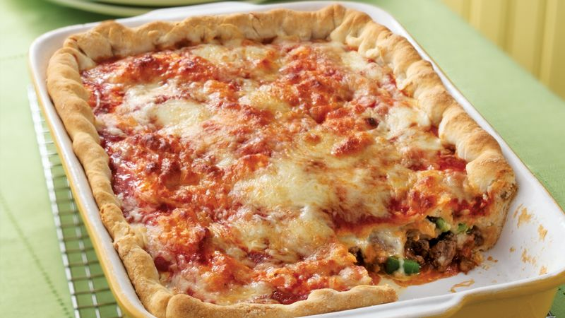 stuffed pizza recipe bettycrocker com