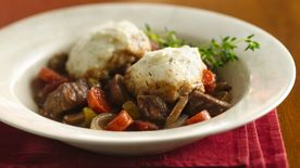 Slow-Cooker Burgundy Stew with Herb Dumplings