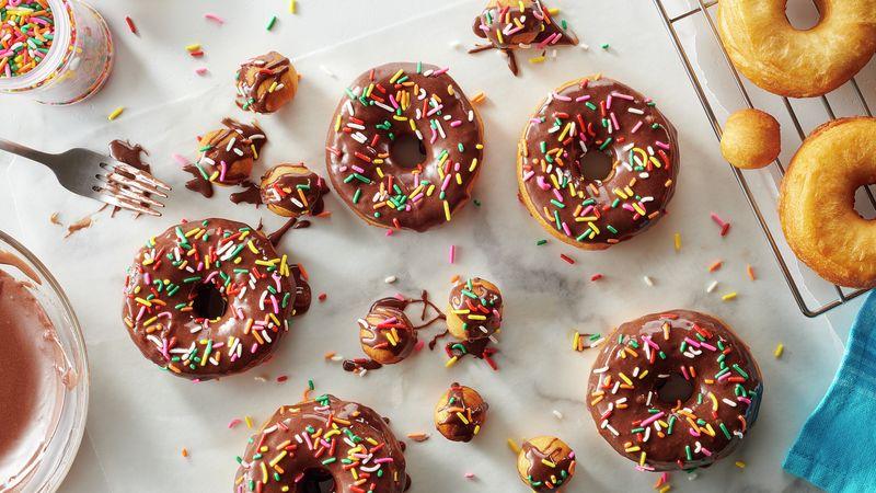 Easy Chocolate Sprinkle Doughnuts