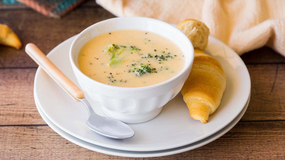 Three-Cheese Broccoli Soup