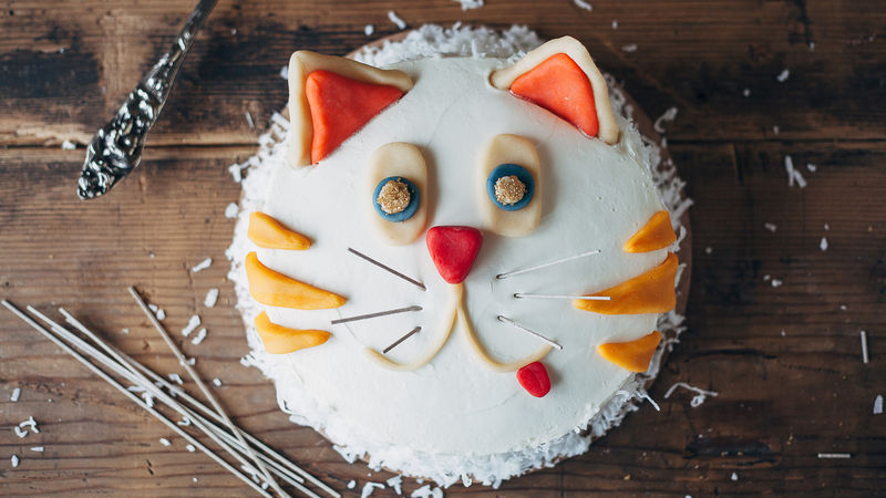 Pleasing Cat Cake Recipe Bettycrocker Com Personalised Birthday Cards Arneslily Jamesorg