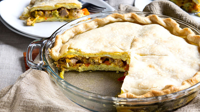 Sausage and Veggie Breakfast Pot Pie