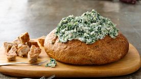 recipe: spinach dip in bread bowl with cream cheese [17]