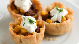Mini Chorizo and Corn Tarts