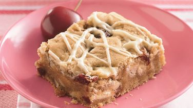 White Chocolate-Cherry Blondies