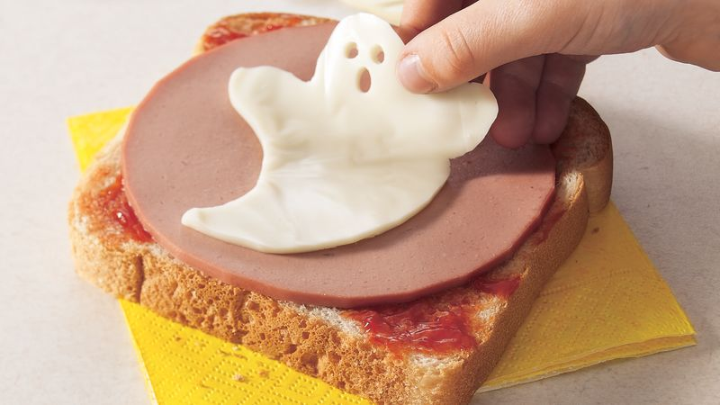 Cookie Cutter Halloween Sandwiches